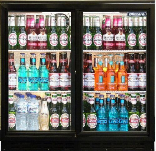 Blizzard Bar 2  Sliding Double Door Bottle  Fridge